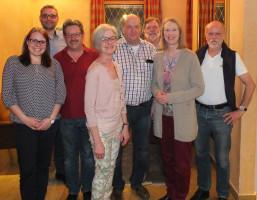 von links: Julia Thalmeier, Thomas Vogt, Rainer Sendrowski, Ingrid Sendrowski, Stephan Raabe, Werner Hintze, Bianka Poschenrieder, Reiner Leonhardt